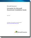 Connector for Microsoft Dynamics Installation Guide